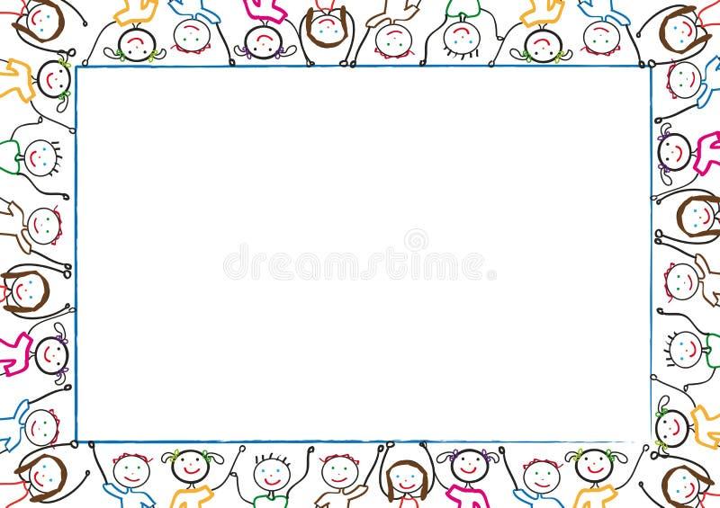 Het frame van jonge geitjes royalty-vrije illustratie