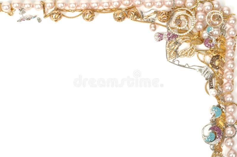 Het frame van juwelen royalty-vrije stock foto