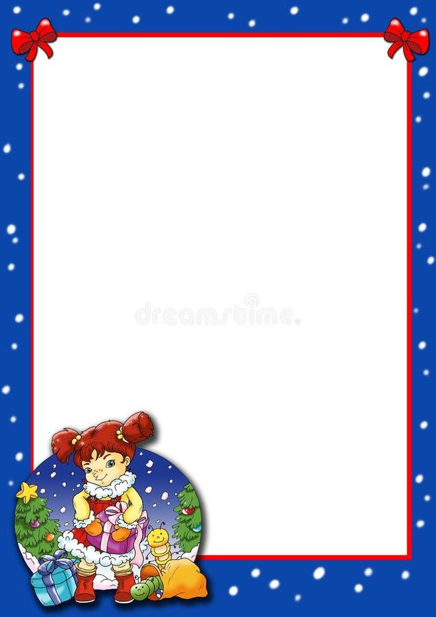 Het frame van Kerstmis stock illustratie