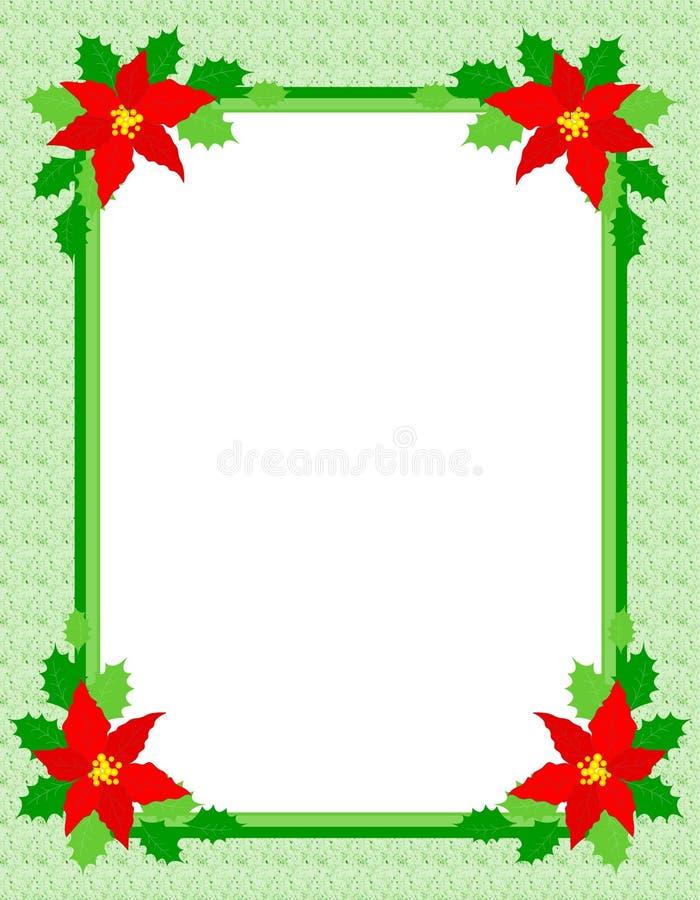 Het frame van Kerstmis poinsettia royalty-vrije illustratie