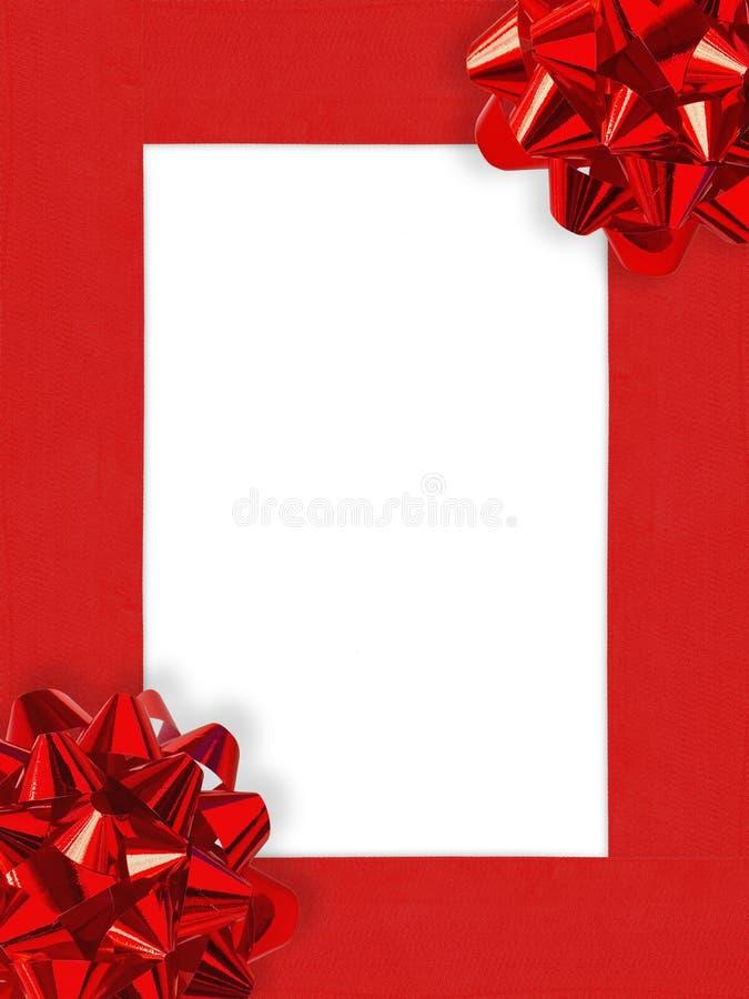 Het Frame van Kerstmis van Ribbons&Bows royalty-vrije stock foto's