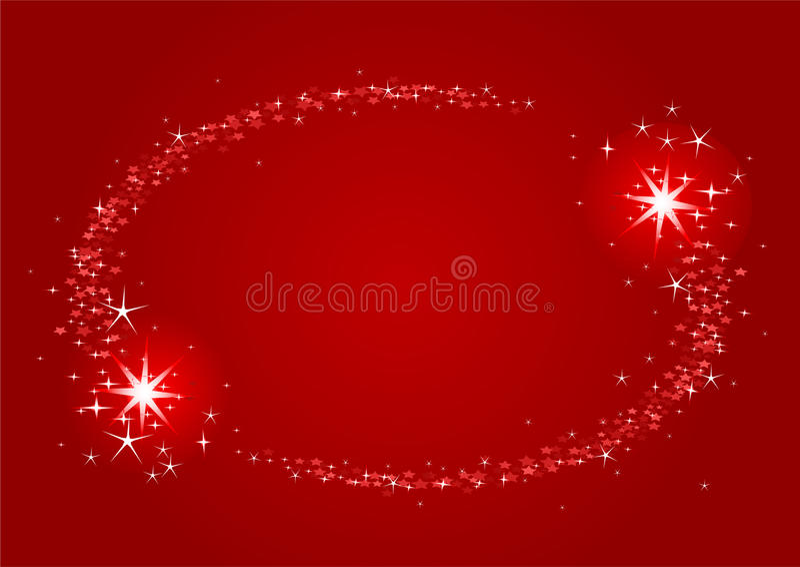 Het frame van Kerstmis van vallend sterren stock illustratie