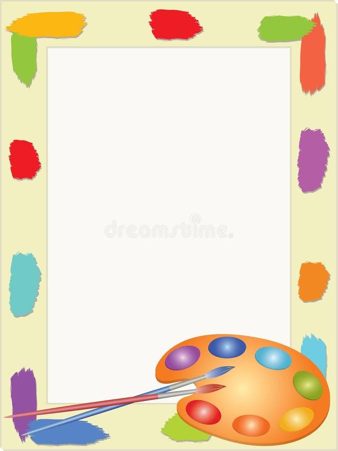 Het frame van kinderen met palet vector illustratie