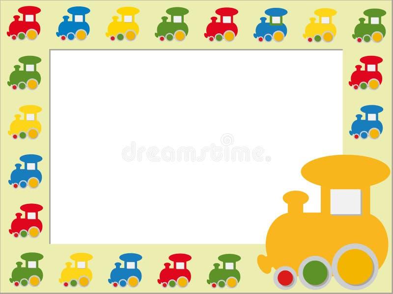Het frame van kinderen met treinen vector illustratie