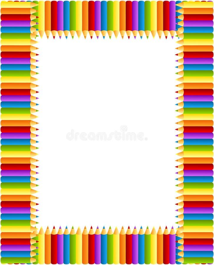 Het Frame van kleurpotloden stock illustratie