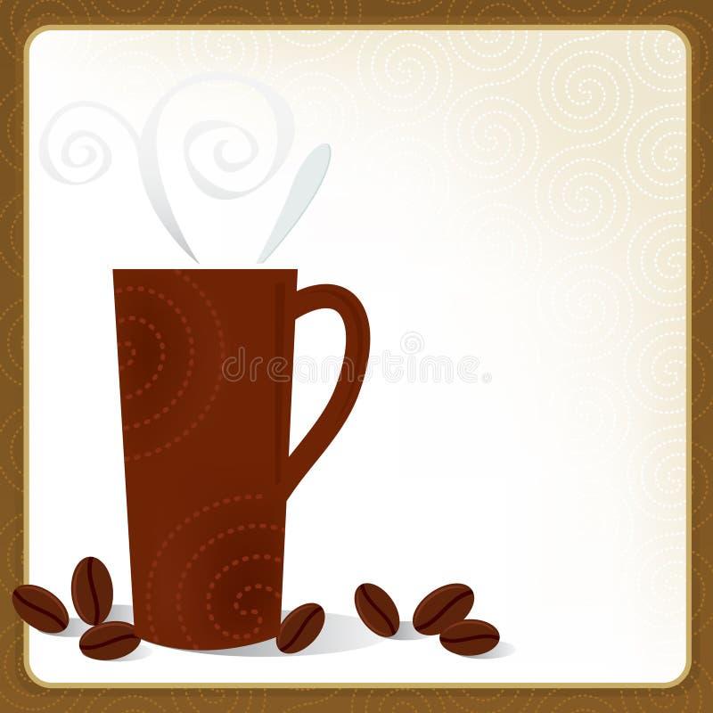 Het Frame van Latte van de koffie royalty-vrije illustratie