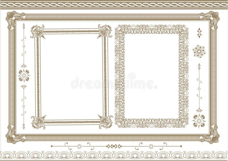 Het frame van Ncient elementen vector illustratie