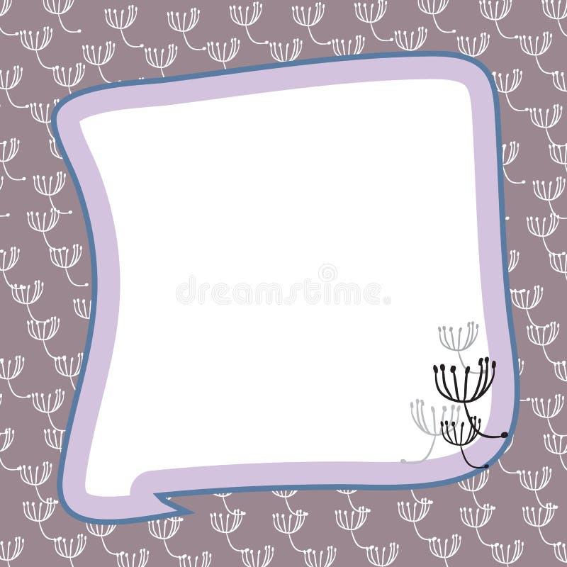 Het frame van paardebloemen vector illustratie
