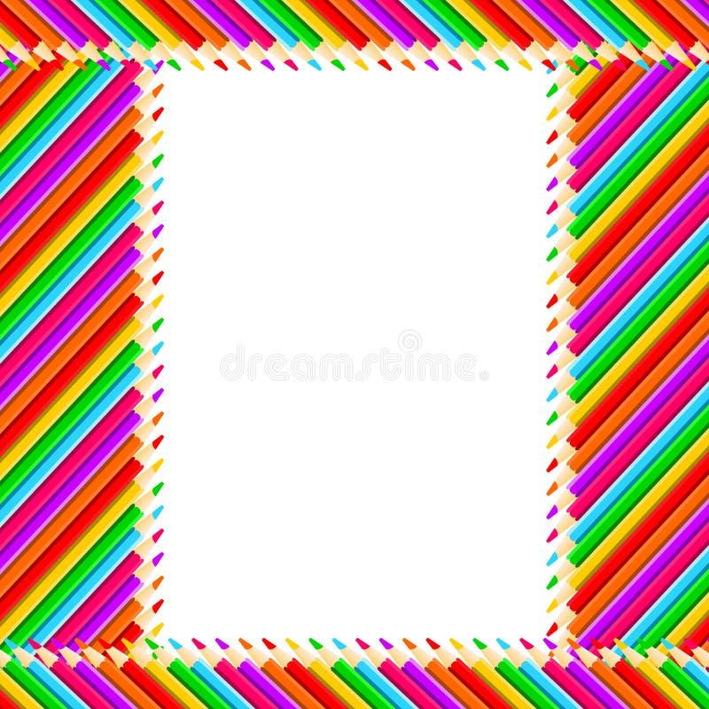 Het Frame van potloden stock illustratie
