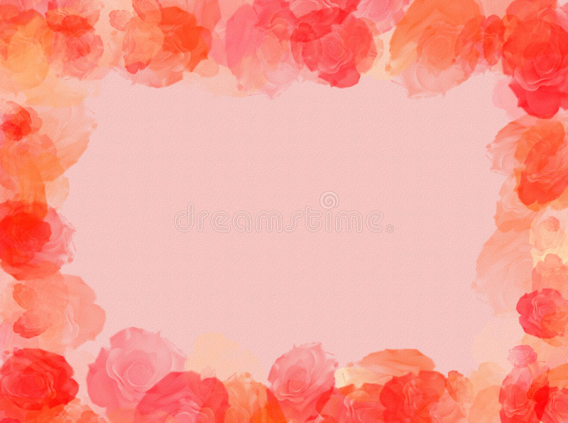 Het frame van rozen royalty-vrije illustratie