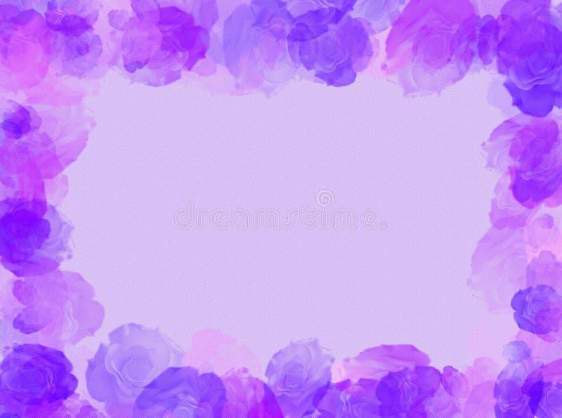 Het frame van rozen vector illustratie
