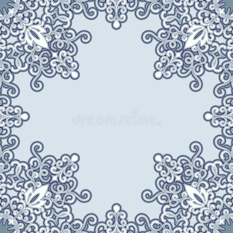 Het frame van Swirly patroon stock illustratie