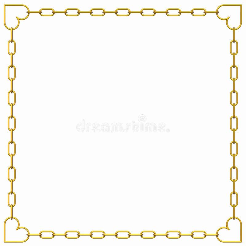 Het frame van valentijnskaarten vector illustratie