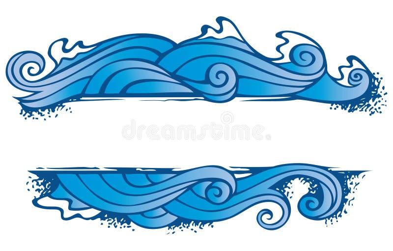 Het frame van vier elementen: water royalty-vrije illustratie
