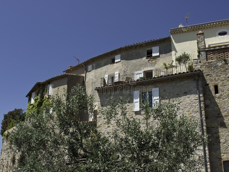 Het Franse dorp van le castellet stock foto's
