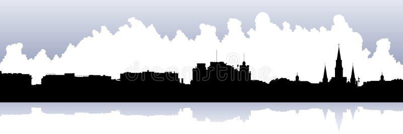 Het Franse Kwart van New Orleans royalty-vrije illustratie