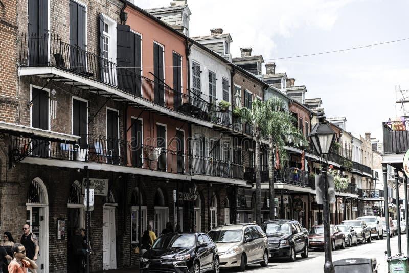 Het Franse Kwart van New Orleans en zijn iconische balkons royalty-vrije stock fotografie