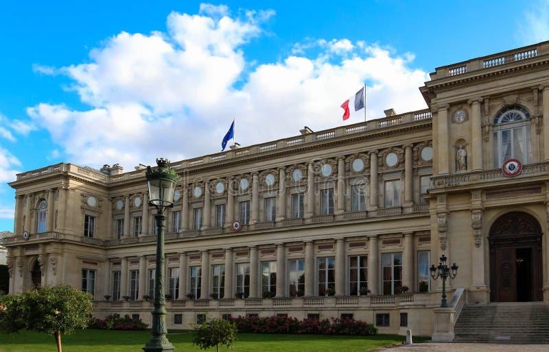 Het Franse Ministerie van Buitenlandse zaken, Parijs, Frankrijk stock fotografie