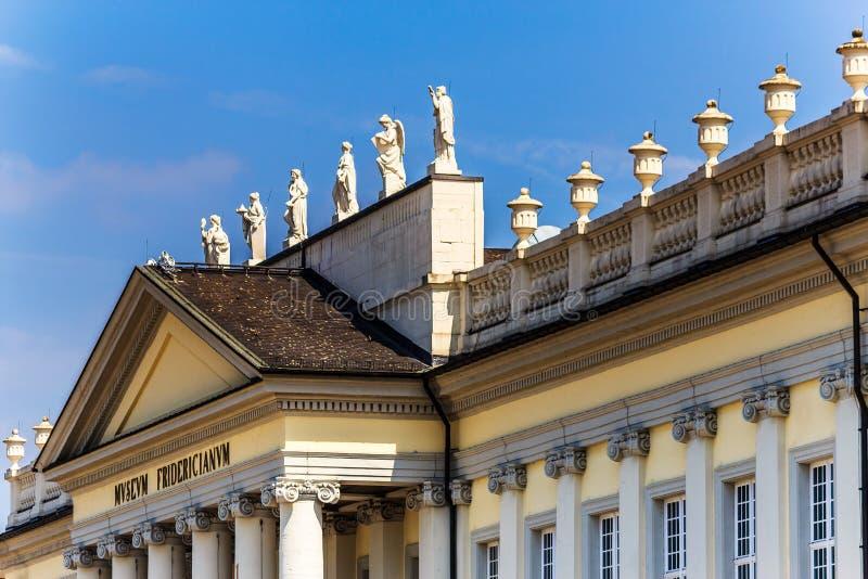 Het Fridericianum-Museum in Kassel, Duitsland stock afbeeldingen