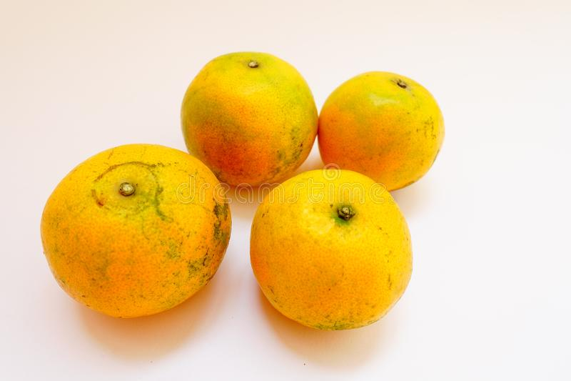 Het fruit is oranje royalty-vrije stock afbeeldingen