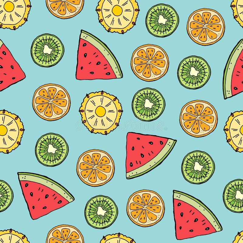 Het fruit snijdt patroon royalty-vrije illustratie