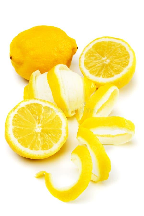 Het fruit van de citroen dat op wit wordt geïsoleerdj royalty-vrije stock foto's