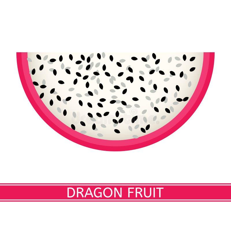 Het fruit van de draak dat op wit wordt geïsoleerd0 stock afbeelding