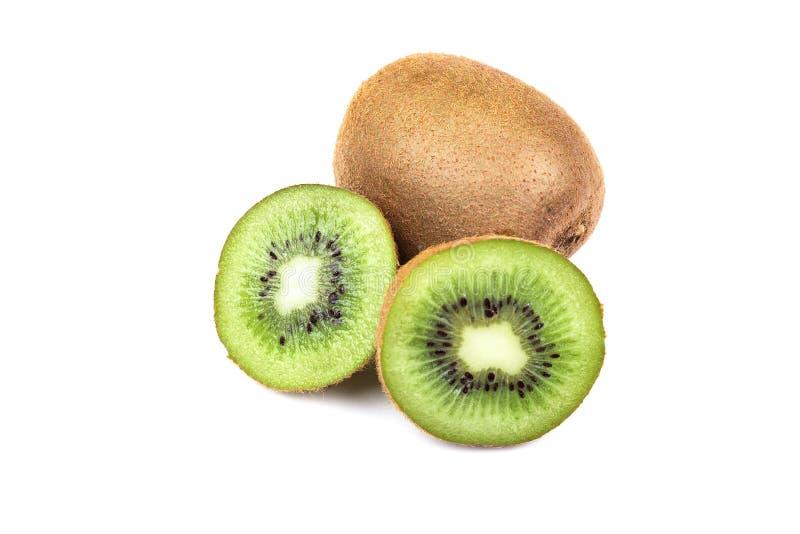 Het fruit van de kiwi dat op witte achtergrond wordt ge?soleerdd stock afbeelding