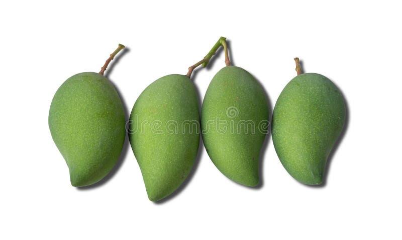 Het fruit van de mango op witte achtergrond stock fotografie