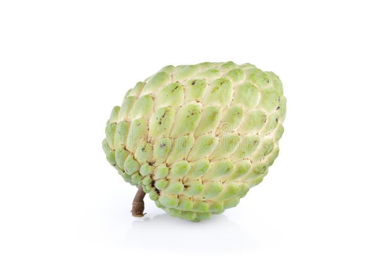 Het fruit van de vlaappel met stam op witte achtergrond royalty-vrije stock afbeelding