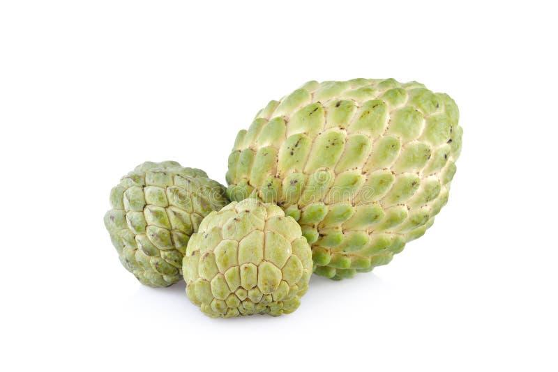 Het fruit van de vlaappel met stam op witte achtergrond stock foto's