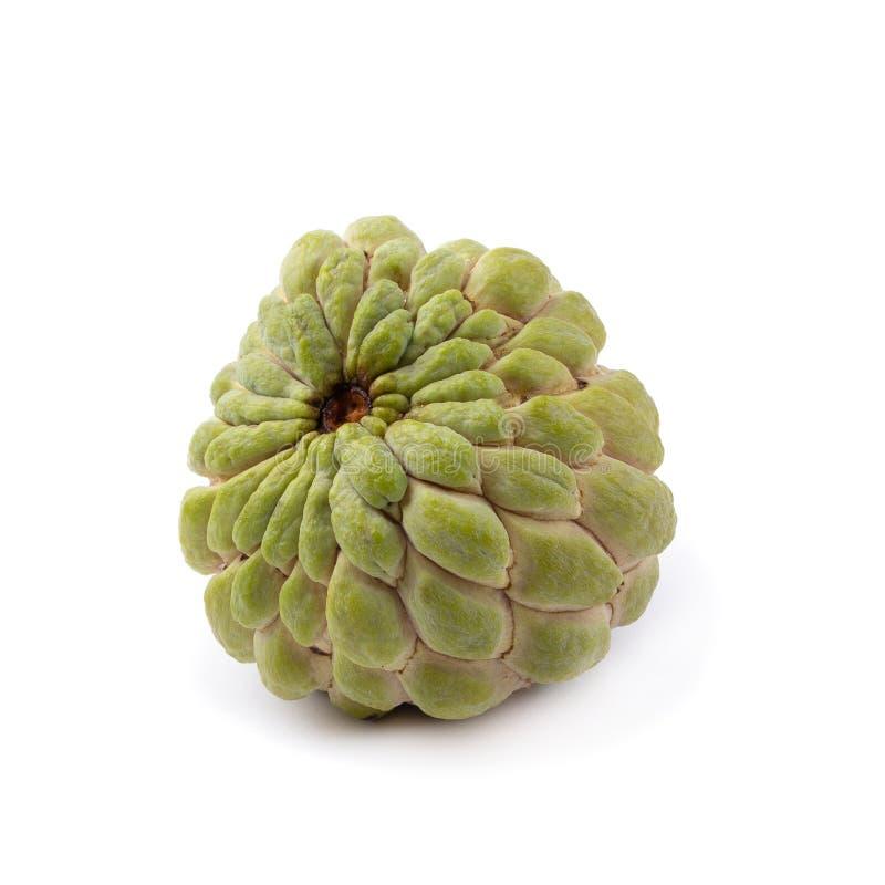 het fruit van de vlaappel op een witte achtergrond wordt geïsoleerd die stock foto