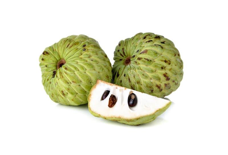 Het fruit van de vlaappel op wit royalty-vrije stock foto