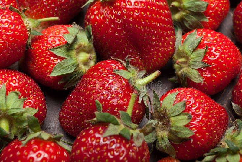 Het fruitachtergrond van de landbouwbedrijfaardbei, oogst royalty-vrije stock foto