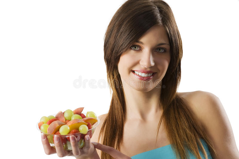 Het fruitmeisje van de geschiktheid stock afbeelding