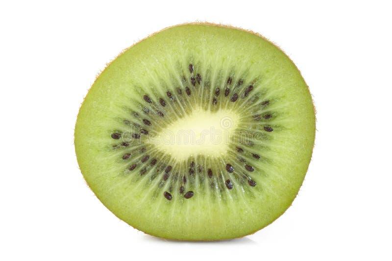 Het fruitplak van de kiwi op witte achtergrond royalty-vrije stock afbeeldingen