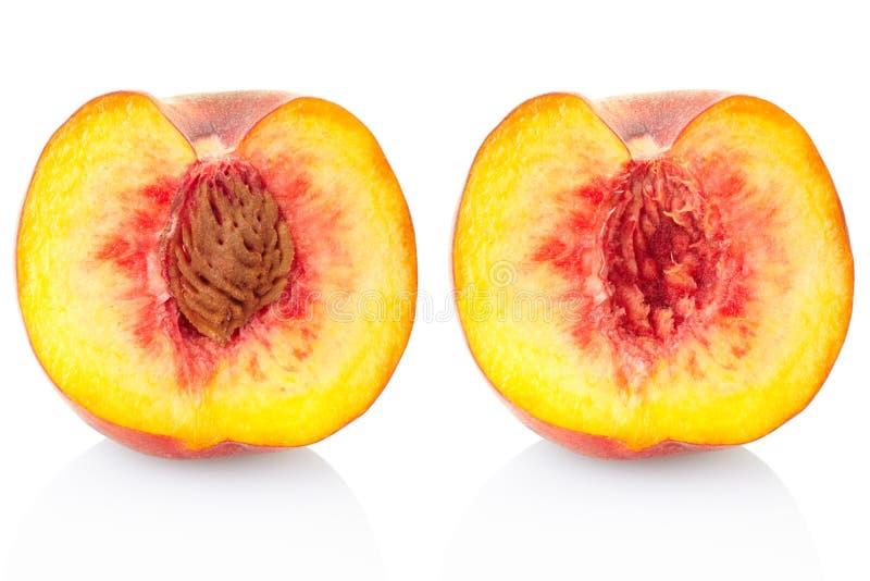 Het Fruitsectie Van De Perzik Royalty-vrije Stock Afbeeldingen