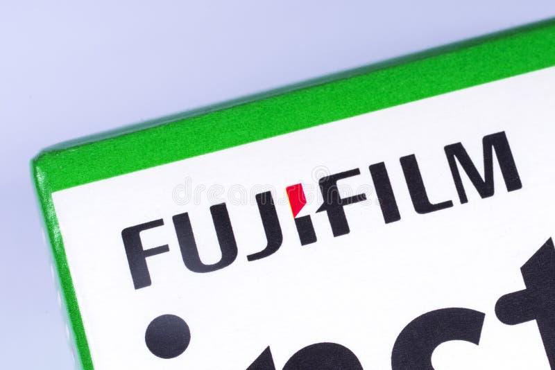 Het Fujifilm-bedrijfembleem stock foto