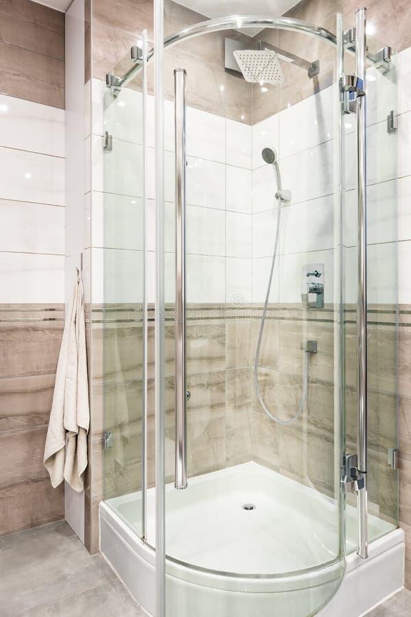 Het functionele idee van de douchecabine stock fotografie