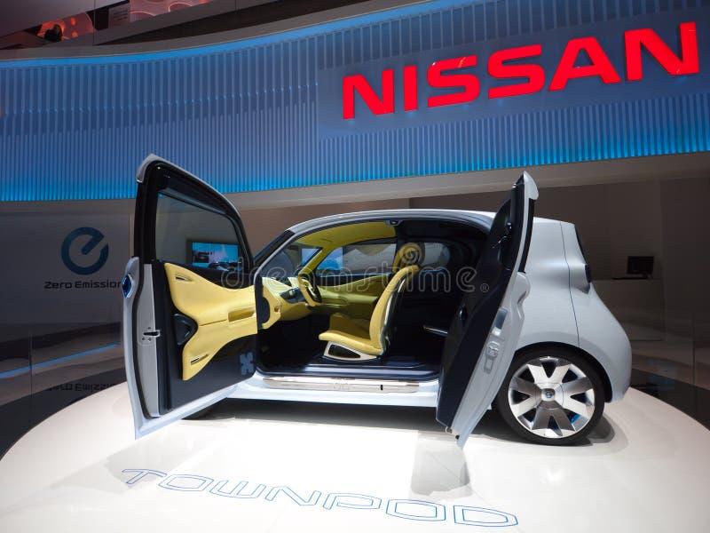 Het futuristische Elektrische Laden van de Auto royalty-vrije stock afbeelding