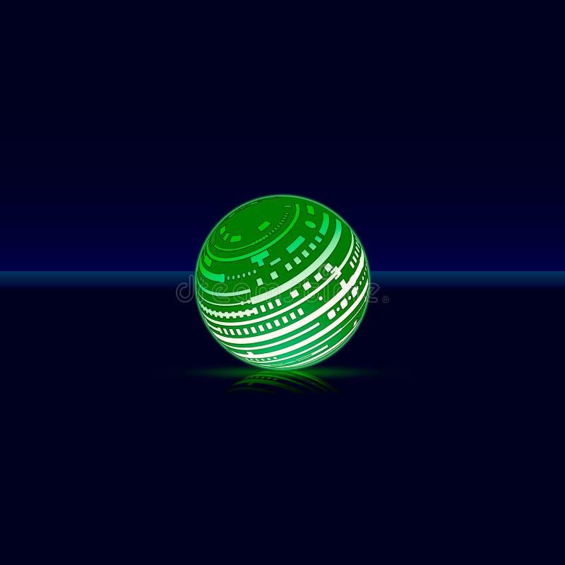 Het futuristische groen gloeien royalty-vrije illustratie