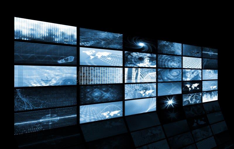 Het futuristische Net van de Gegevens van de Energie van het Netwerk royalty-vrije illustratie
