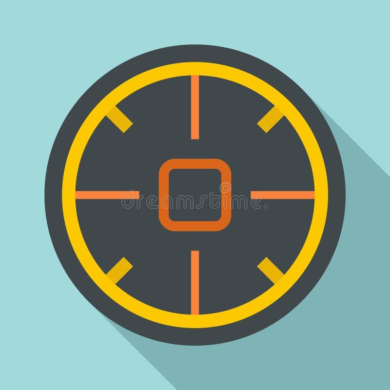 Het futuristische pictogram van het doelwerkingsgebied, vlakke stijl vector illustratie