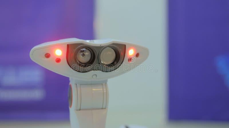 Het futuristische robotspin bewegen zich royalty-vrije stock foto