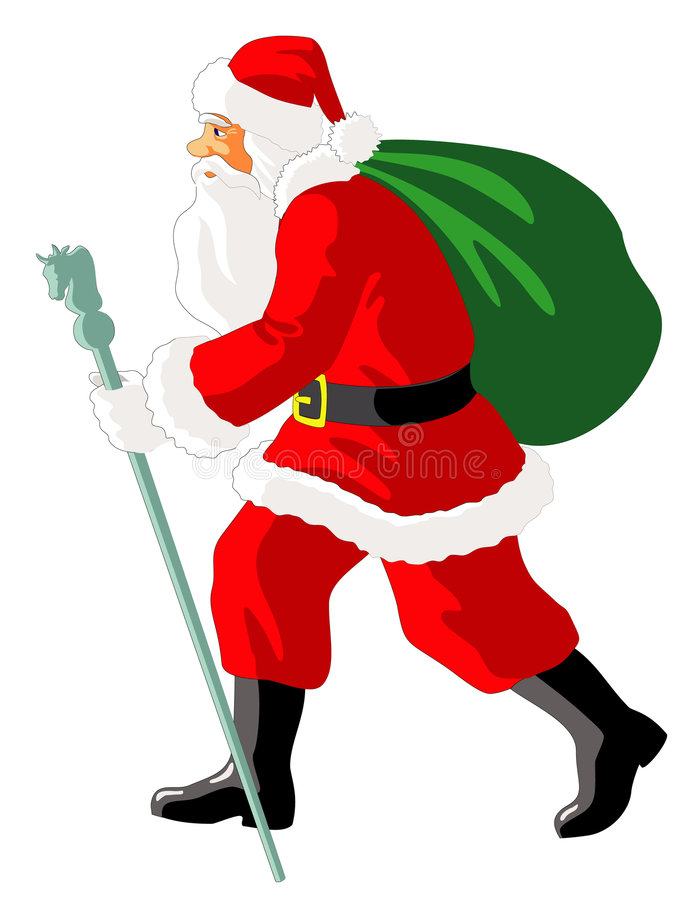 Het gaan Kerstman stock foto's