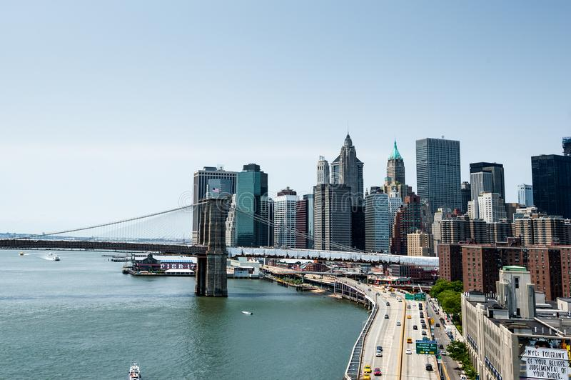 Het gaan naar Brooklyn in New York stock foto