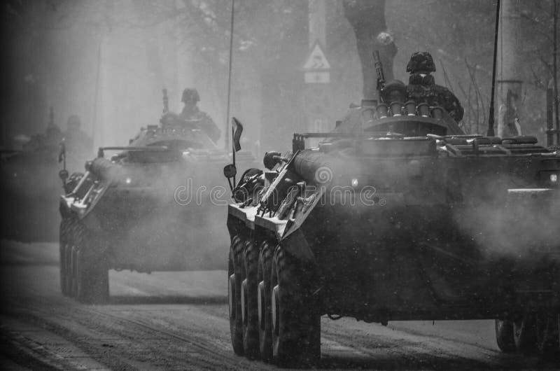 Het gaan naar oorlog royalty-vrije stock afbeeldingen