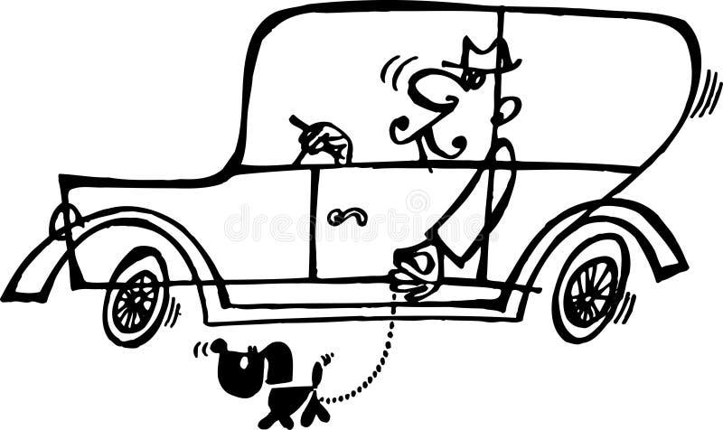 Het gaan voor een gang met de hond stock illustratie