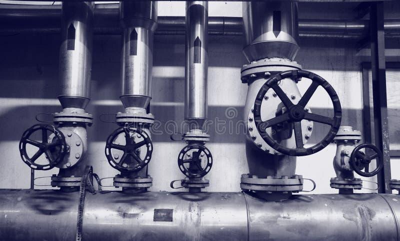 Het gas en de oliesystemen van de industrie stock fotografie