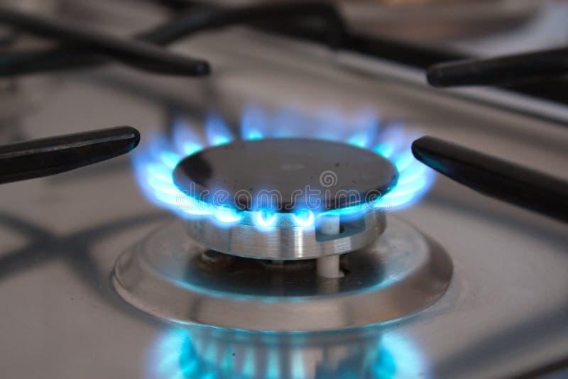 Het gas van het fornuis stock afbeelding